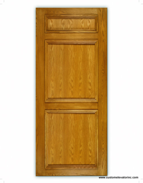 The Signature Series recessed panel cab design is elegantly crafted from natural oak hardwood and veneers available in several stains and solid color lacquer finishes.
