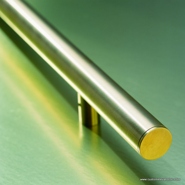 Brushed Brass Cylindrical Bar