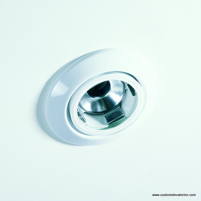 Miniature low voltage down light with white trim ring