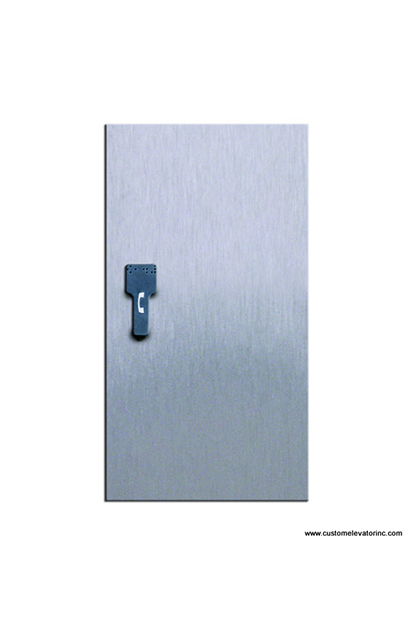 Brushed Stainless Steel Recessed Phone Cabinet (Optional)