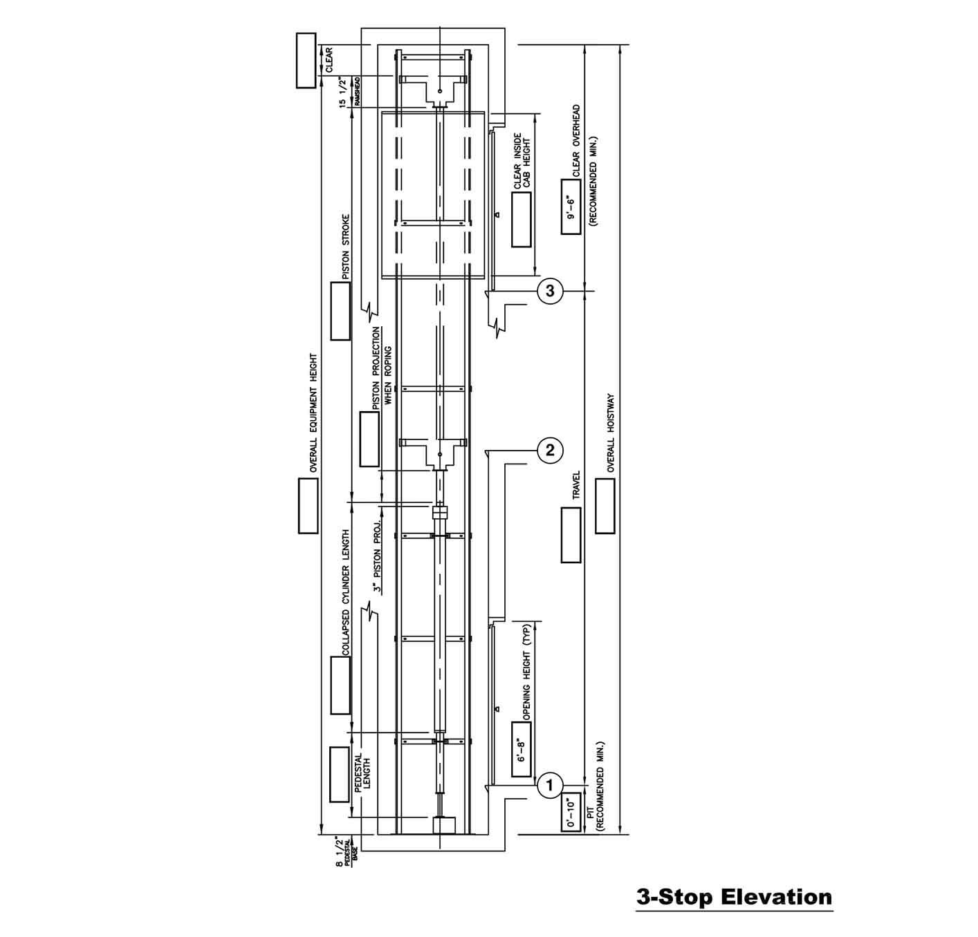 Hydraulic Drawings   Custom Elevator