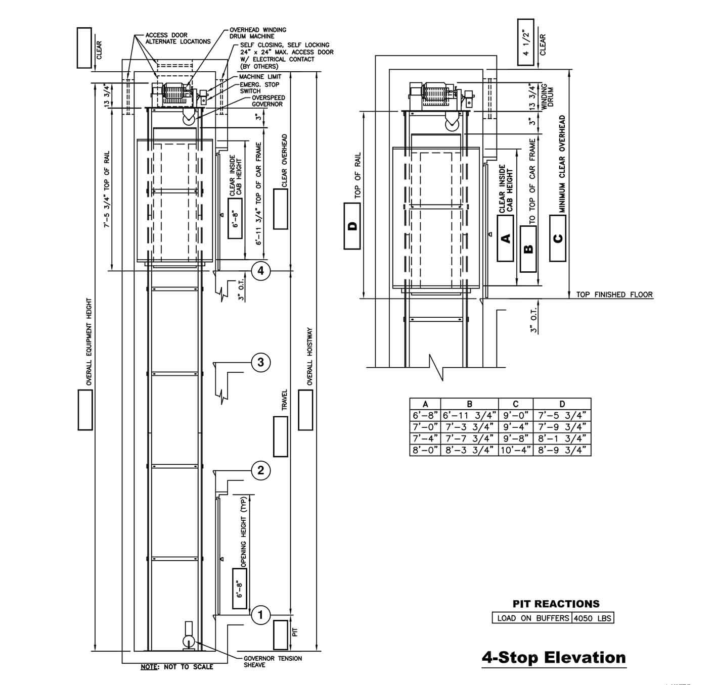 Cable Drive Drawings Custom Elevator