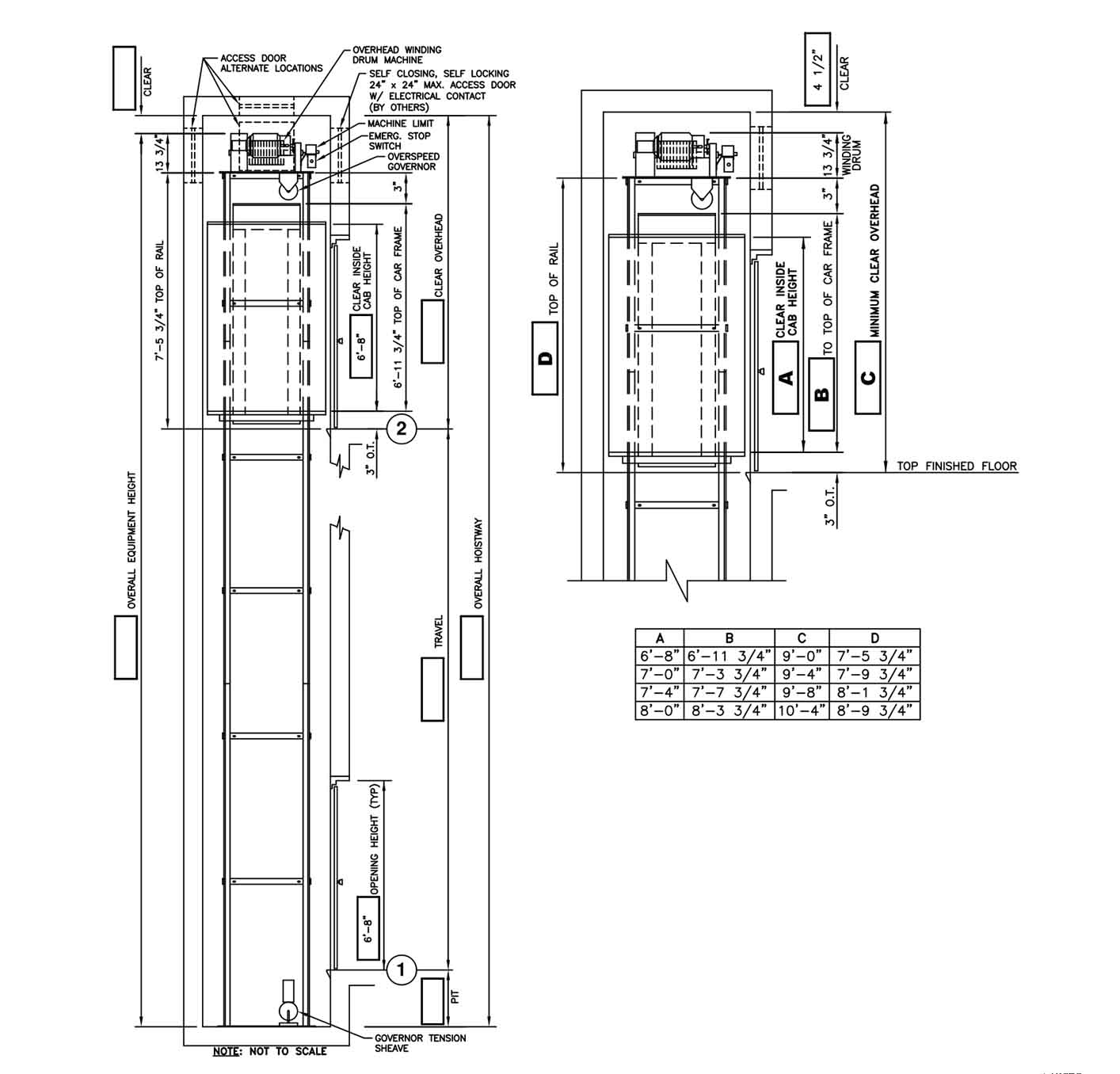 Cable Drive Drawings Custom Elevator